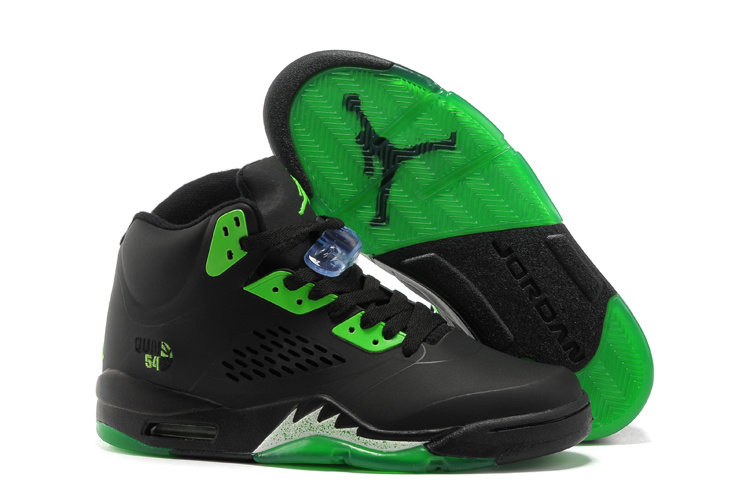 Latest Air Jordans 5 Classic Black Green