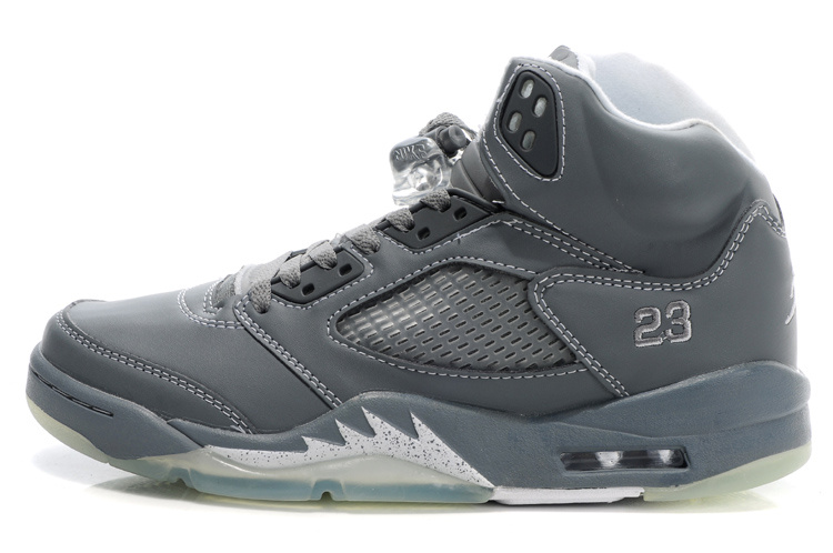 Latest Air Jordans 5 Retro Grey For Women