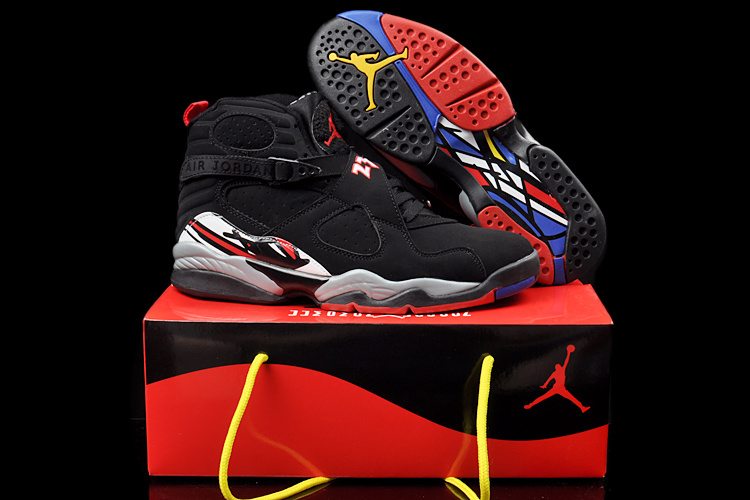 Latest Duplicate Air Jordans 8 Classic Black Grey Red