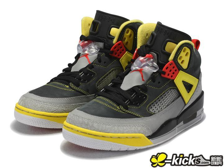 Latest Jordans 3.5 Black Grey Yellow Red Shoes