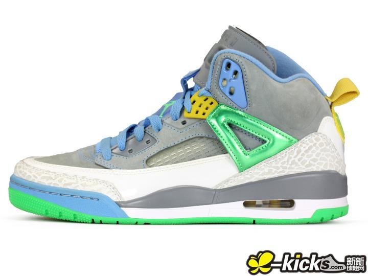 Latest Jordans 3.5 Grey Blue Green Yellow Shoes
