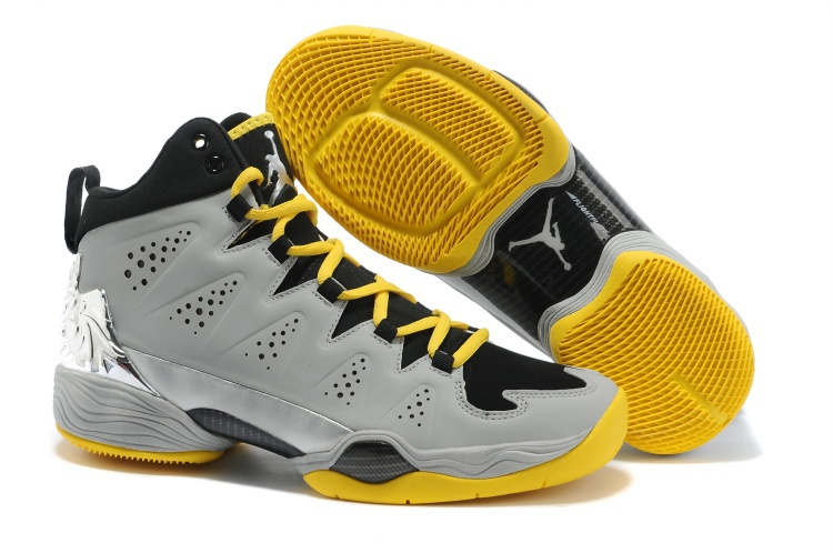 Latest Jordan Anthony 10 Original Grey Black Yellow Shoes