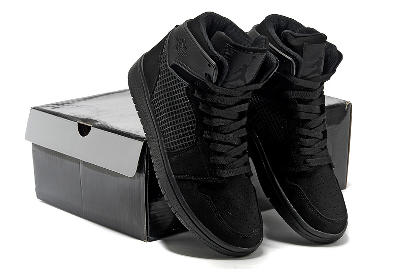 Latest Jordans 1 Retro High All Black