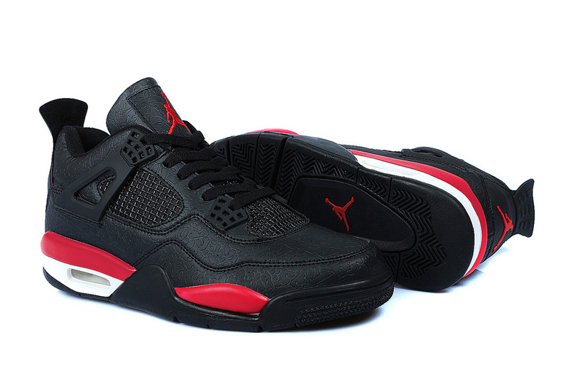 Latest Jordans 4 Temporal Rift by Classic Color Black Red