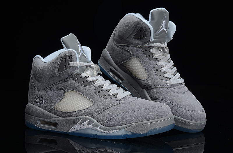 Latest Jordans 5 Suede Retro All Grey