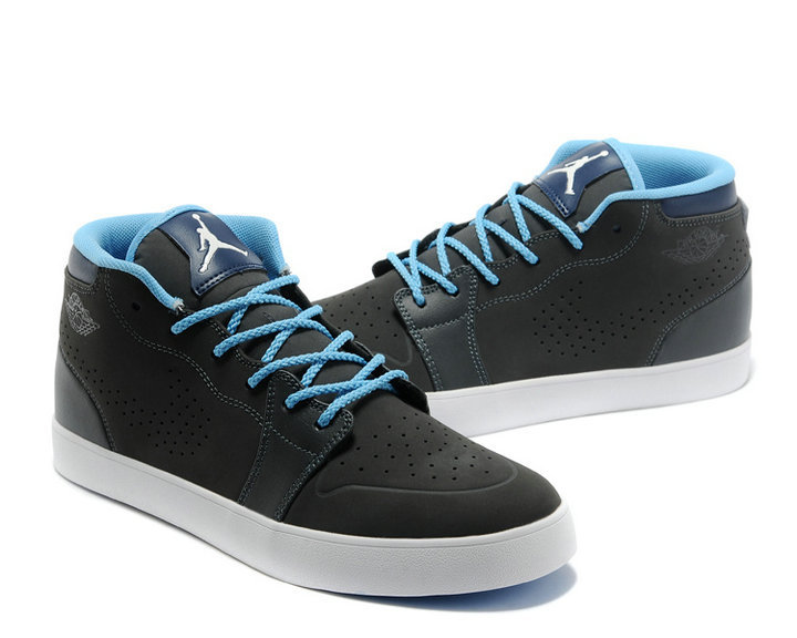 Latest Nike Air Jordan V.1 Chukka Classic Black Blue White Shoes