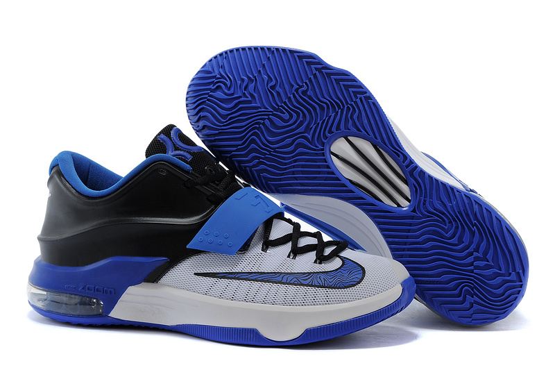 Latest Nike KD 7 Blue Black White Basketball Shoes
