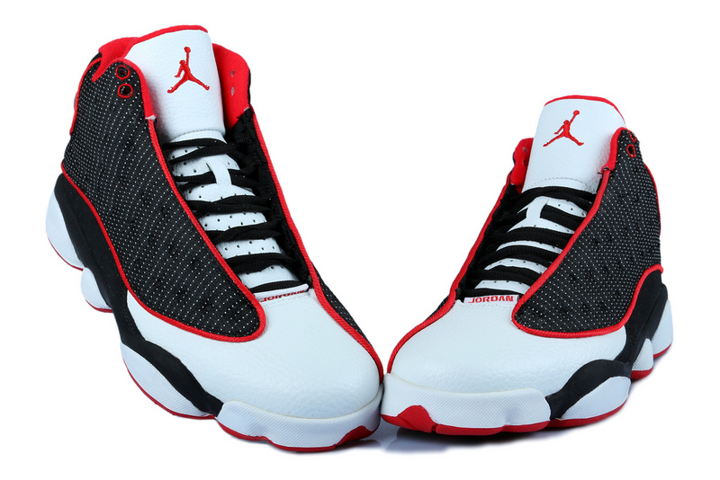 New Women Jordan 13 Black Red With 3D Eye And Recoil Air Cushion
