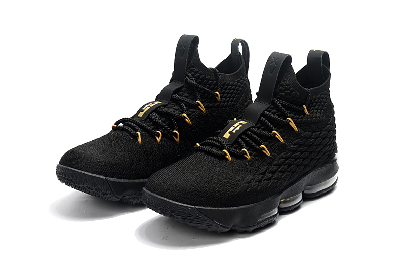 Lebron 15 Black Gloden For Kids Shoes