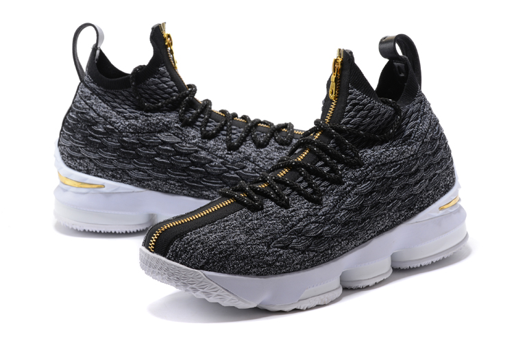 Lebron 15 Black Gloden Shoes