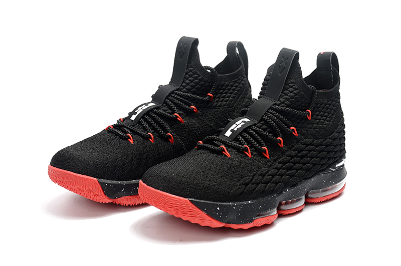 Lebron 15 Black Red Shoes