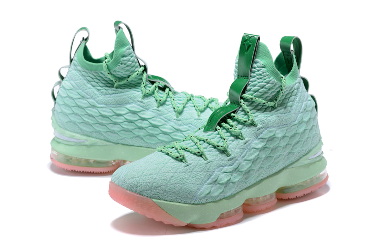 Lebron 15 Mint Pink Basketball Shoes