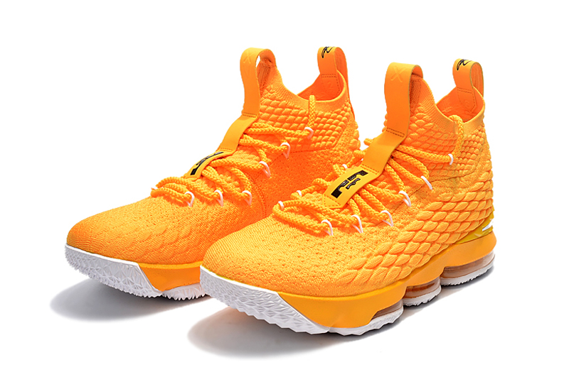Lebron 15 Yellow Black For Kids Shoes