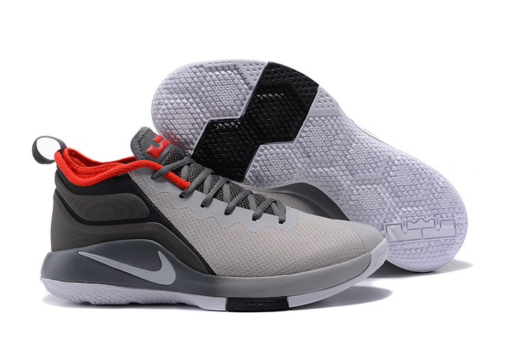 Lebron Wintness 2 Gray Black Red Shoes