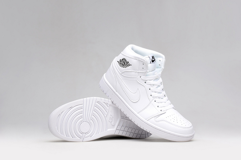 Lovers Jordans 1 All White Basketball Shoes