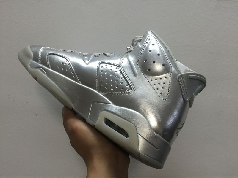 Lovers Jordans 6 Sliver Grey Shoes