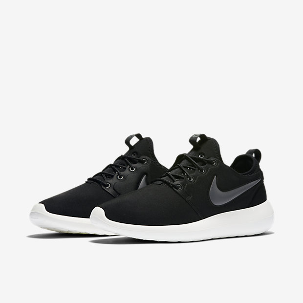 Lovers Nike Roshe Two Black White Shoes