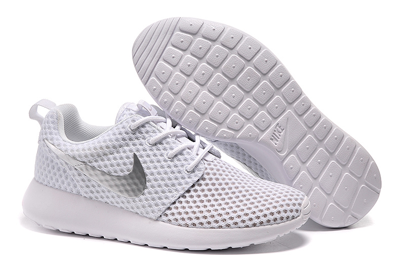 Lovers Nike Roshe Two Mesh White Sliver Shoes