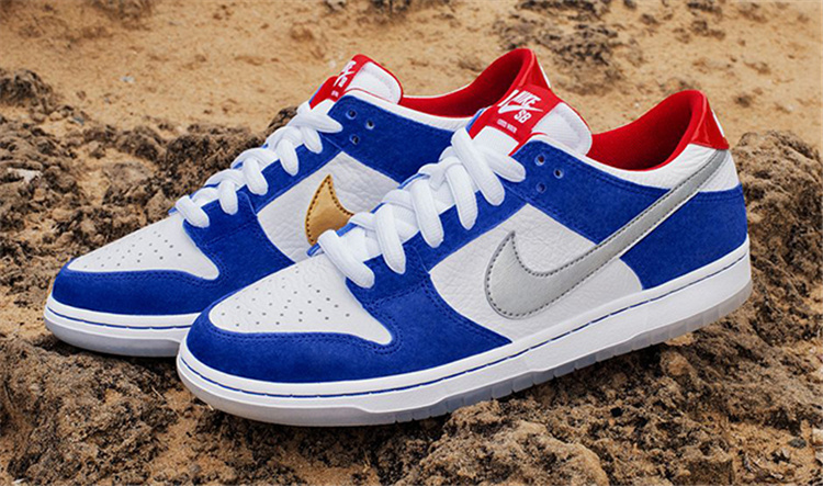 Lovers Nike SB Dunk Low White Blue Shoes
