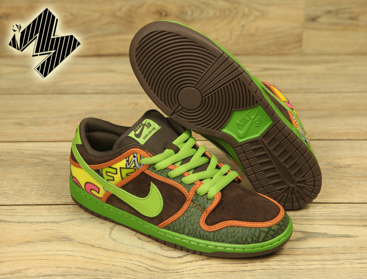 Lovers Nike SB Dunk Low Sun Flowers Shoes