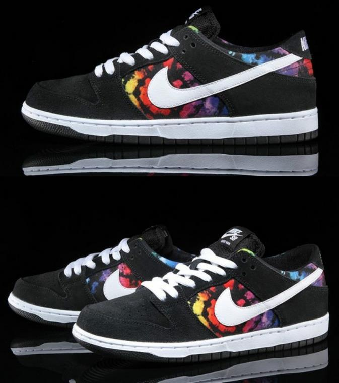 Lovers Nike SB Dunk Low Tye Dye Shoes