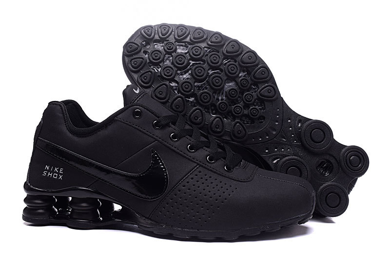 NEW WOMEN NIKE SHOX DELIVER ALL BLACK SHOES