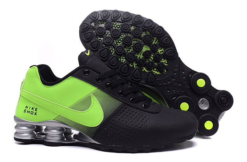 NEW WOMEN NIKE SHOX DELIVER BLACK GREEN GREY SHOES