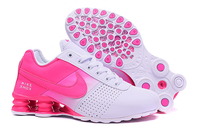 NEW WOMEN NIKE SHOX DELIVER GS WHITE PINK SHOES