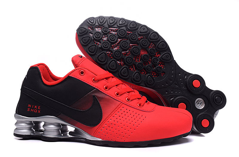 NEW WOMEN NIKE SHOX DELIVER RED BLACK SHOES