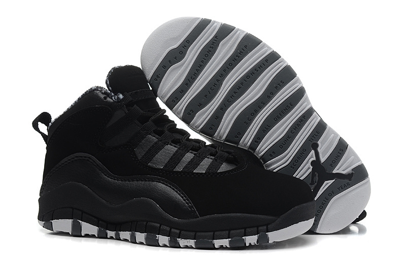 New Jordans 10 Black Grey Shoes For Sale