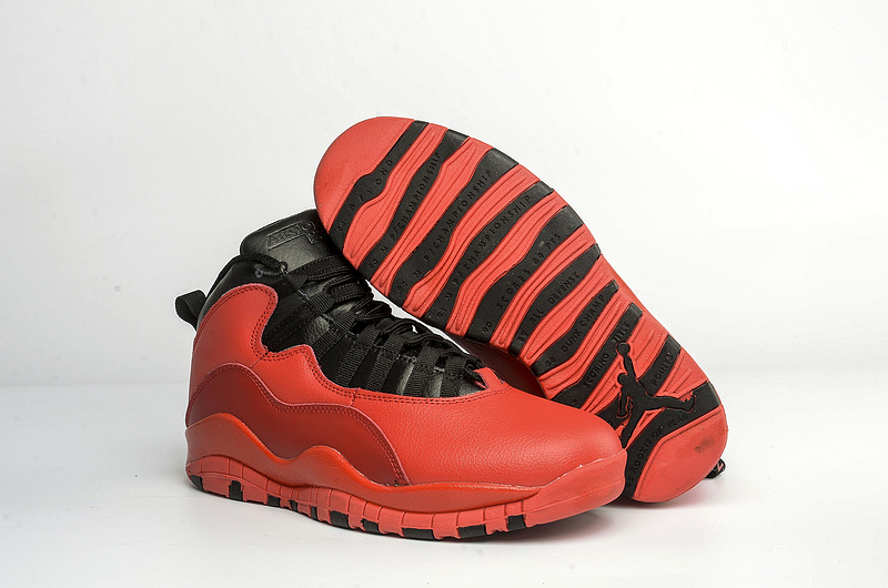 New Jordans 10 Red Black Dark Red Shoes For Sale