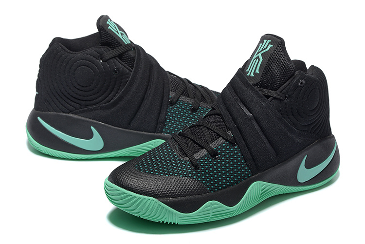 New Nike Kyrie 2 Black Green Basketball Shoes