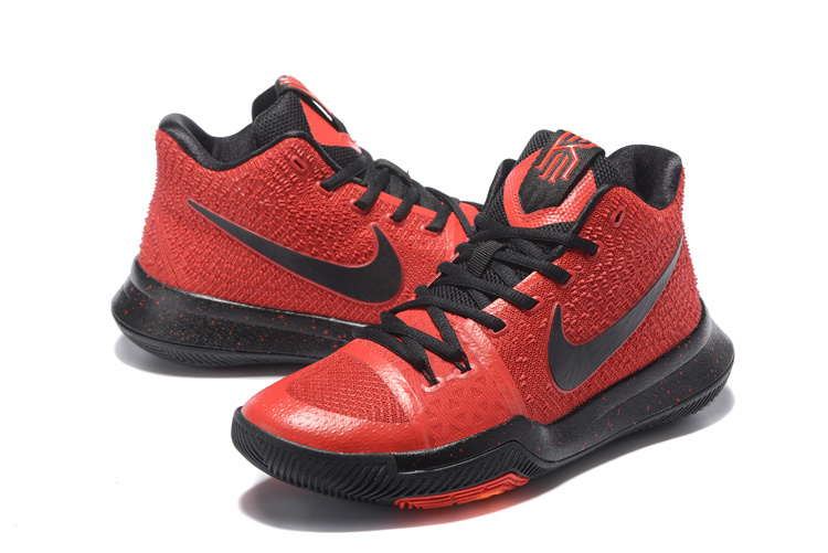 New Nike Kyrie 3 Red Black Basketball Shoes