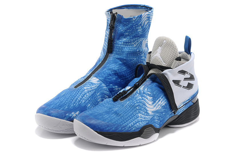 New 2013 Air Jordan 28 Classic Blue Black Shoes