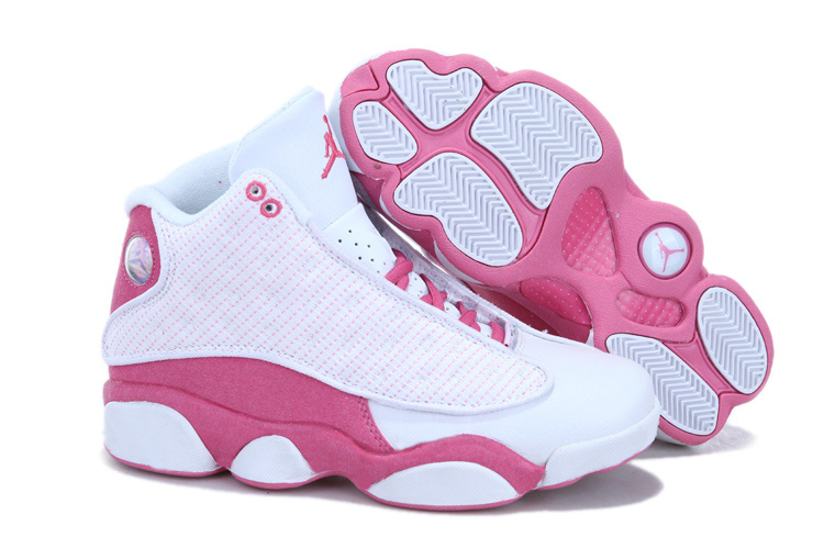 New Air Jordan 13 White Pink For Women