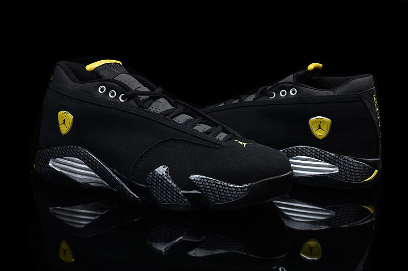 New Jordans 14 Low Black Yellow For Women
