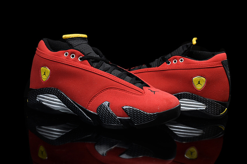 New Jordans 14 Low Red Black Yellow For Women