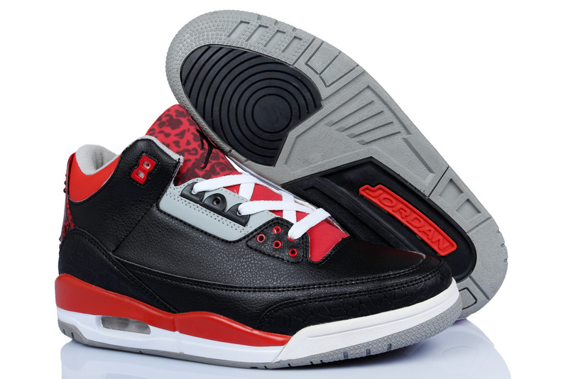 New Air Jordan 3 Original Bandit Edition Black Red White