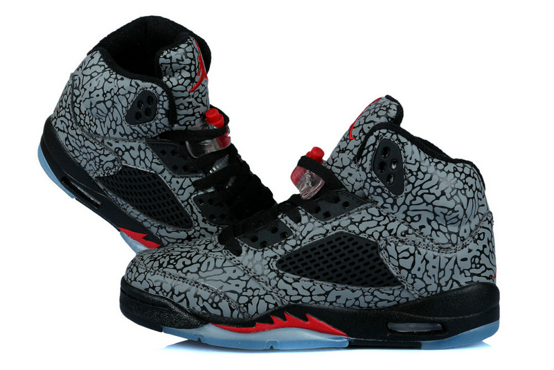 New Air Jordan 3LAB5 Classic Black Fire Red For Women_05