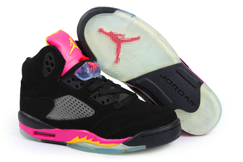 New Air Jordan 5 original Spade Red Shoes For Women