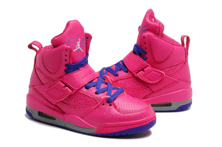 New Jordans Flight 4.5 Rose Red Blue Shoes