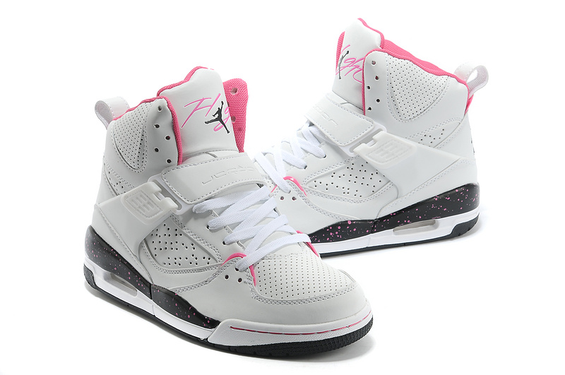 New Jordans Flight 4.5 White Pink Black Shoes
