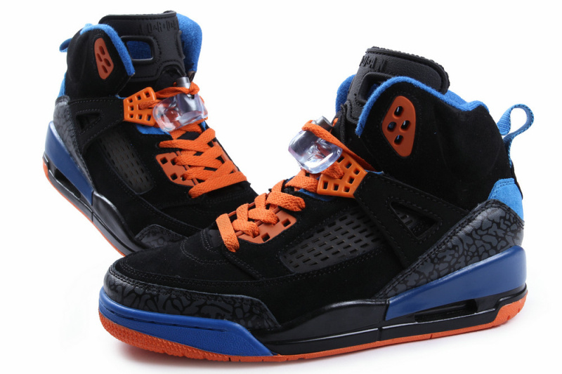 New Air Jordan Spizike Classic Black Blue Orange For Women