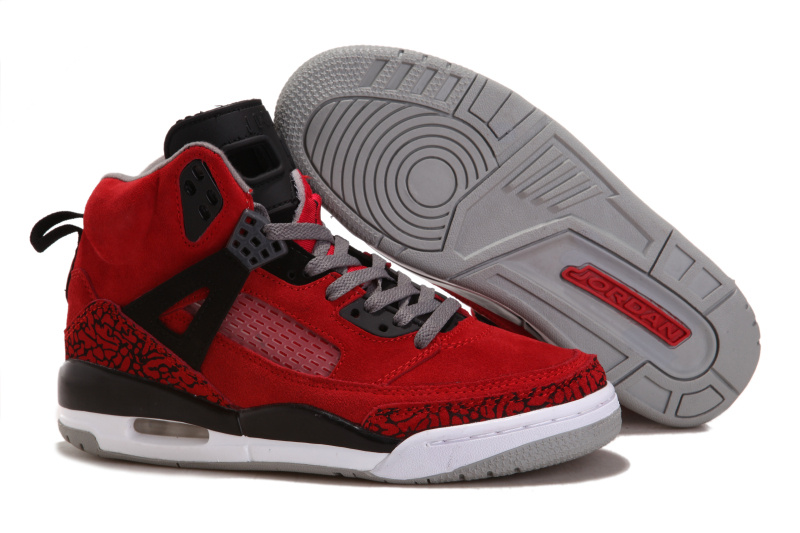 New Air Jordan Spizike Suede Retro Red Black White For Women