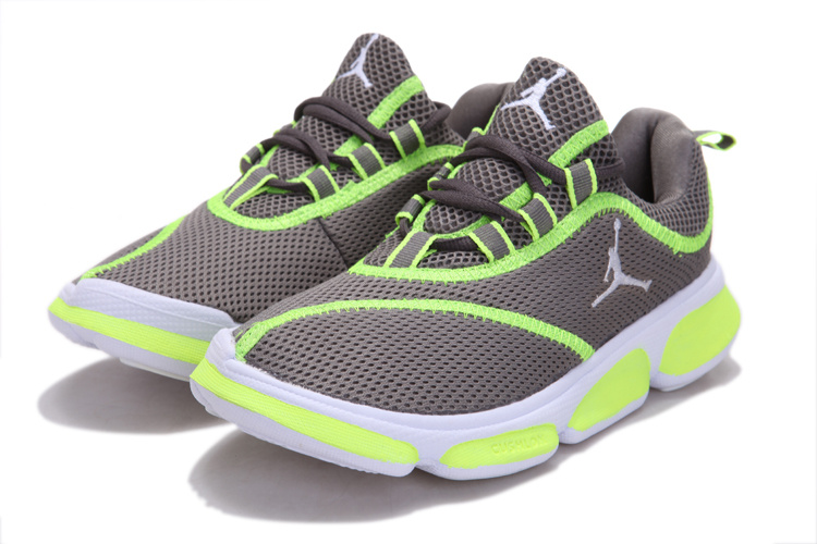 New Air Jordan orignal Running Shoes Grey Green For Women