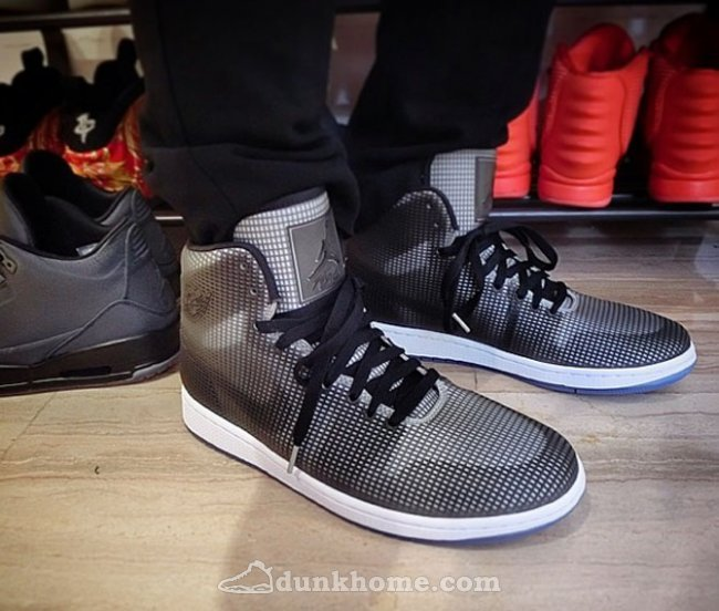 New Air Jordans 4LAB1 Black Grey Shoes