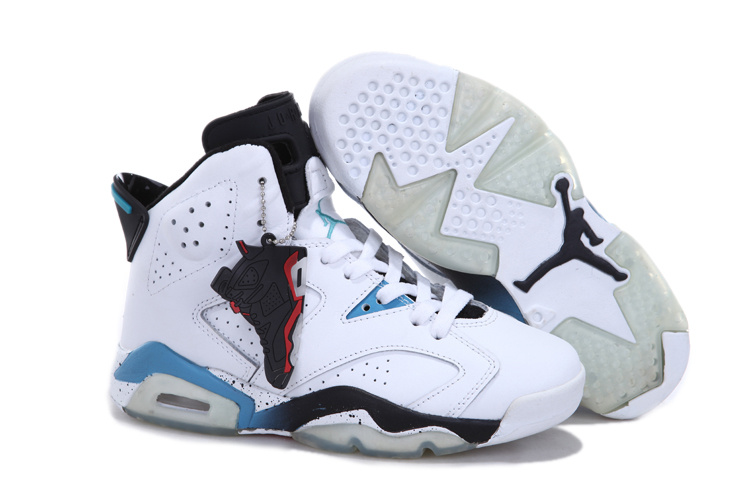 New Air Jordans 6 Retro White Blue Black For Women_06