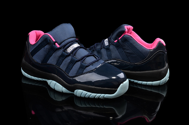New Jordans 11 Black Pink Shoes