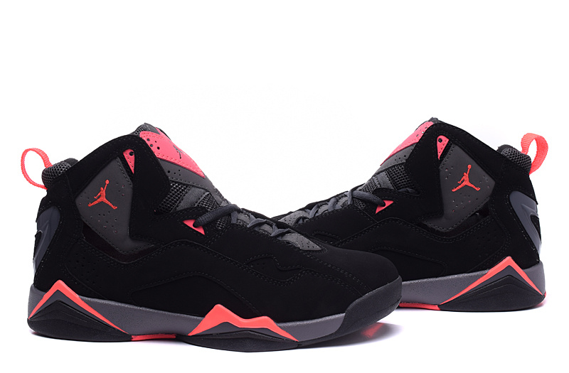 New Jordans 7 Black Red Shoes For Women