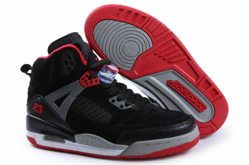 New Jordan Spizike Retro Black Grey Red For Women
